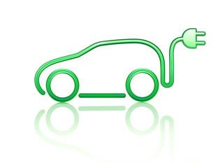 electric powered car symbol