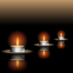 Reflecting Candle Illustration