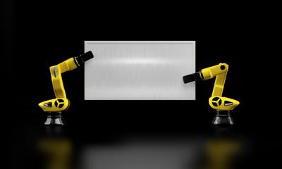 Roboterarme mit Schild