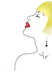 profilo donna bionda