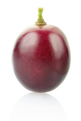 Grape berry isolated on white, clipping path included