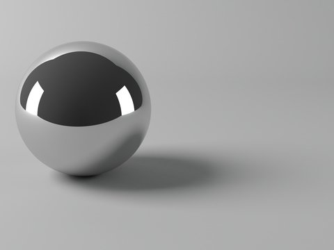 Shiny metal ball