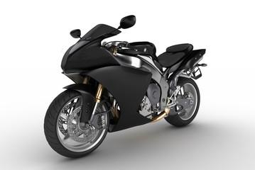 Keuken foto achterwand Motorfiets Black motorkibe on white background