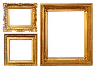 3  gold frames