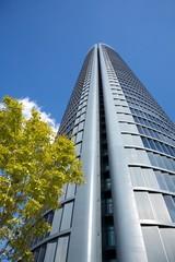 dark grey skyscraper