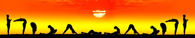 Yoga surya namaskar sun salutation
