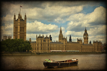 Westminster, london, texture retro