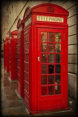 Cabine telefoniche inglesi, londra, texture retro