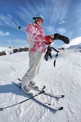enfant piste de ski