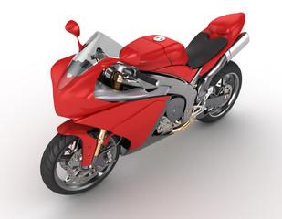 Keuken foto achterwand Motorfiets red motorkibe on white background