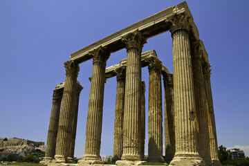 Fototapete - ancient Temple of Olympian Zeus, Athens, Greece