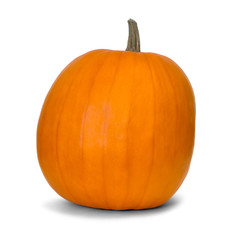 pumpkin over white background with clipping path