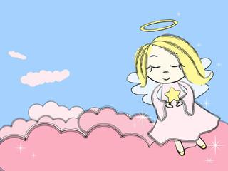 Keuken foto achterwand Hemel Fairy Angel in the sky