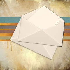 Envelope over grunge background