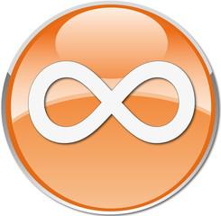 infinite symbol icon orange