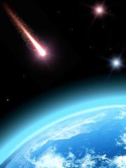 Falling comet