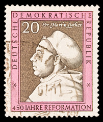 GERMANY - CIRCA 1960s: Iahre reformation Dr,Martin Juther