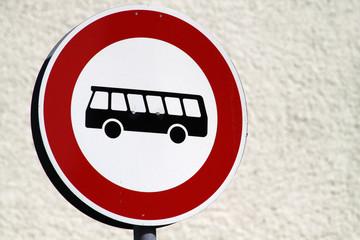 Einfahrt für Busse verboten