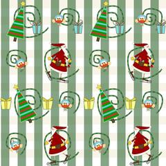 sfondo natalizio con babbo natale, albero, regali ...