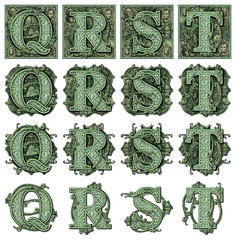 Money Alphabet Q to T