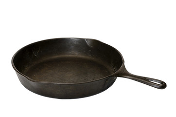 Cast Iron Skillet Isolated
