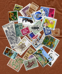 Different stamps collection