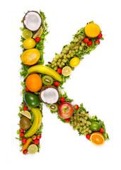 Fototapeta Fruit alphabet letter