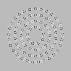 Tuinposter Psychedelic Circle or spiral - Optical illusion simple geometry