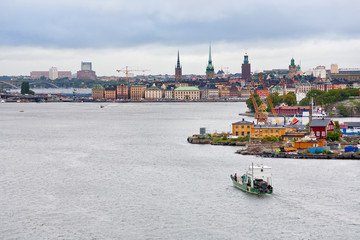 view on Gamla Stan and Beckholmen island in Stockholm