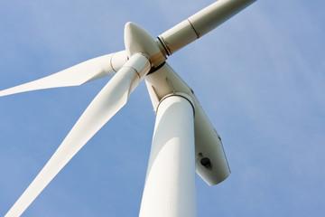 Impressive upward look to a big windturbine