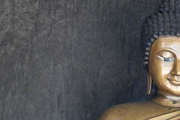 half face buddha image