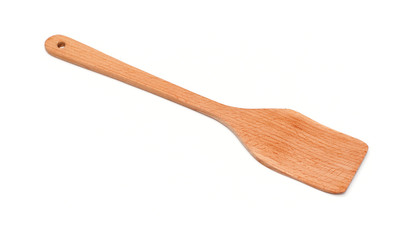wooden spatula on a white background