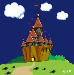 Foto op Plexiglas Kasteel castle vector