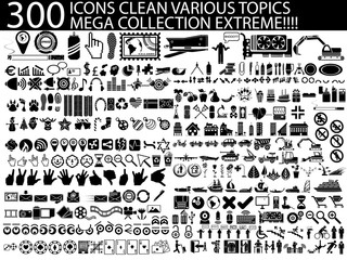 300 ICONS CLEAN VARIOUS TOPICS MEGA COLLECTION EXTREME