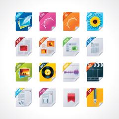 File labels icon set