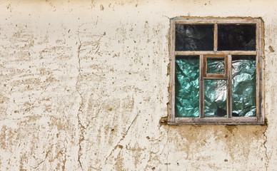 vintage texture old wall with a window