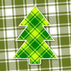 weihnachtsbaum mit rautenmuster II