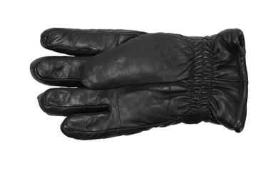 black leather gloves isolated on white background