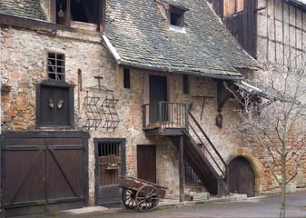 rustic facade detail in Colmar