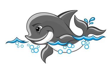 Photo sur Aluminium Dauphins Baby dolphin