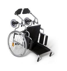 toppled down wheelchair