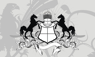 heraldic shield coat of arms crest horse background9