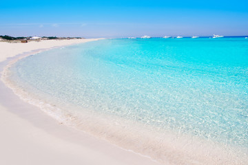 Wall Mural - Illetes Formentera East beach tropical turquoise