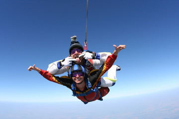Acrylic Prints Sky sports Skydiving photo