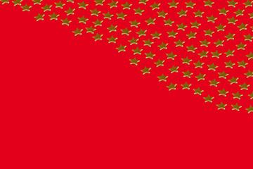 Goldene Sterne auf rotem Hintergrund