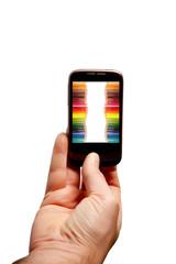 Cellulare con matite colorate