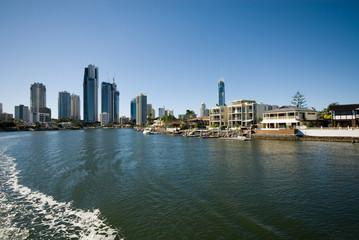 Waterway Scene, Surfers Paradise, Australia