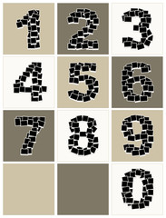 Numbers made from photo frames, insert your photos