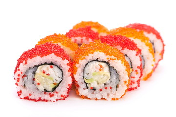 Roll with flying fish caviar
