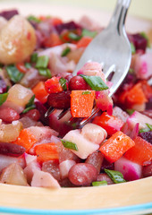 Salad with bolied vegetable